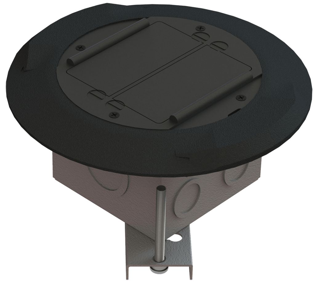 EZ-Wiring Round Raised Floor Box